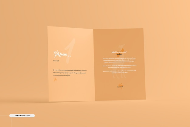 A5 a6 gevouwen uitnodigingskaartmodel