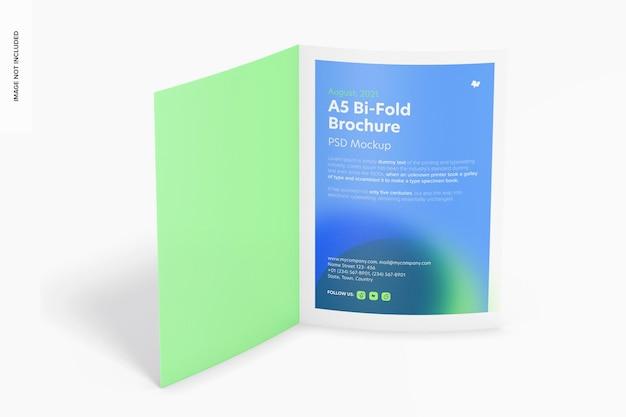 A5 bi-fold brochure mockup