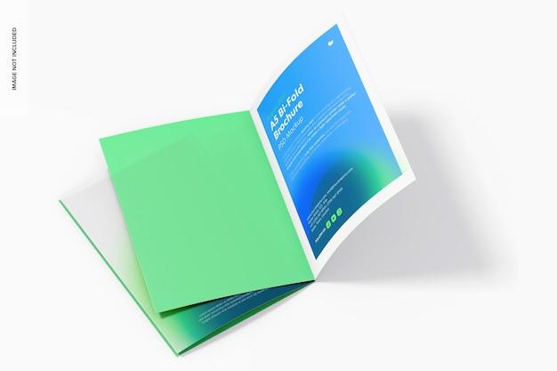 A5 bi-fold brochures mockup