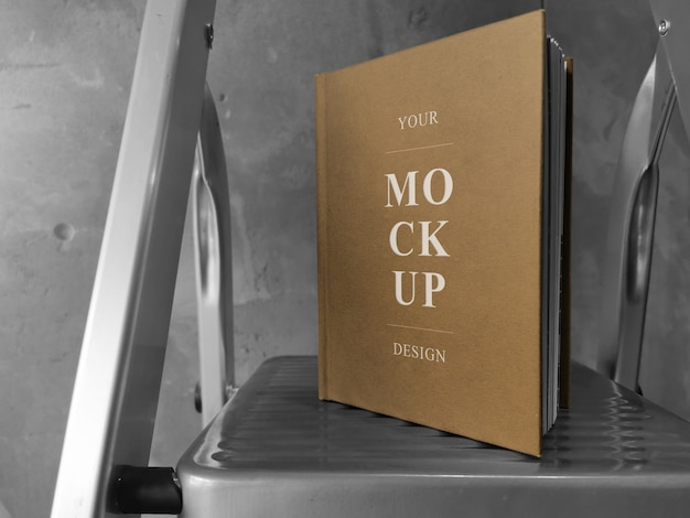 A5 craft cover book mockup