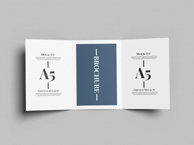A5 driebladige brochure mockup