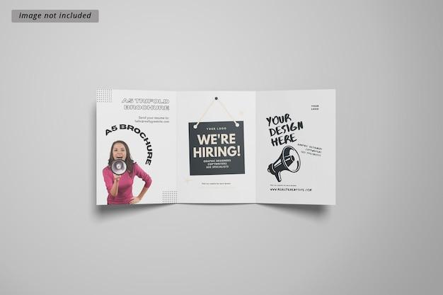A5 driebladige brochuremodel