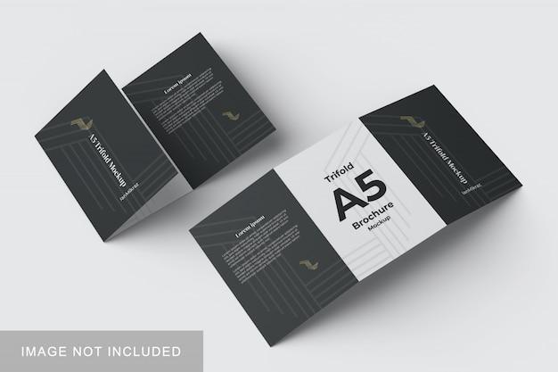 A5 driebladige mockup