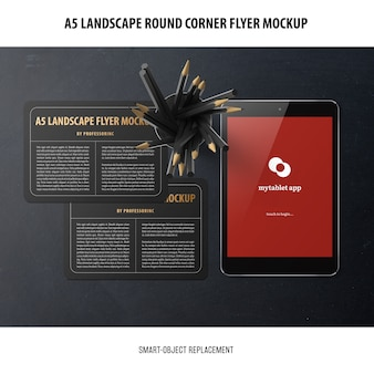 A5 flyer mockup orizzontale