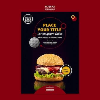 A5 flyer ontwerp voor restaurant