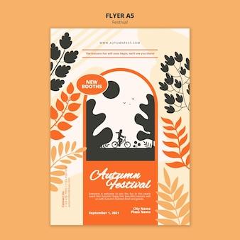A5-flyersjabloon voor herfstfestival