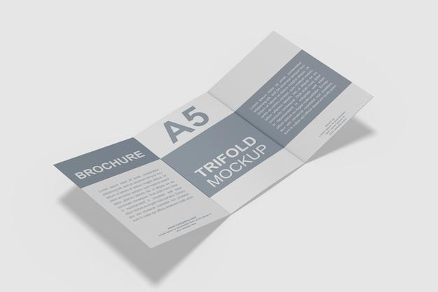 A5 gevouwen brochure mockup