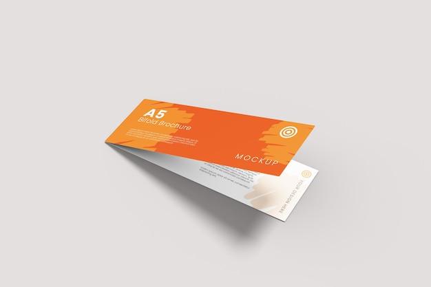 A5 lange tweevoudige brochure mockupontwerp