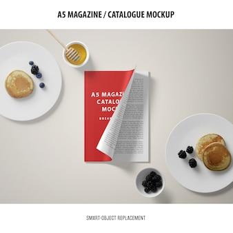 A5 magazine cover catalog mockup
