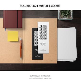 A5 slim flyer-model