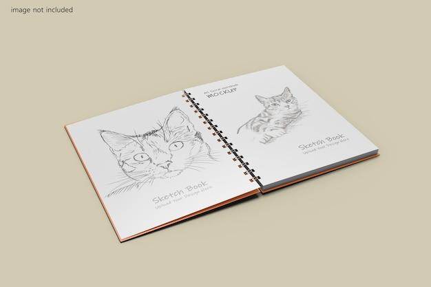 A5 spiraal notebook mockup-ontwerp
