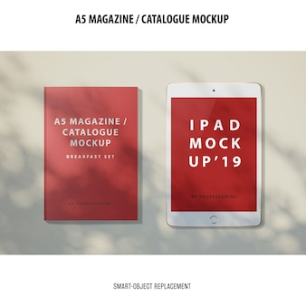 A5 tijdschriftcatalogus mockup