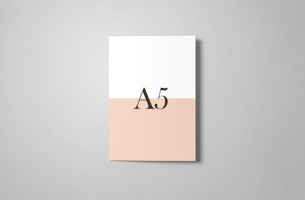 A5 tri-fold mockup