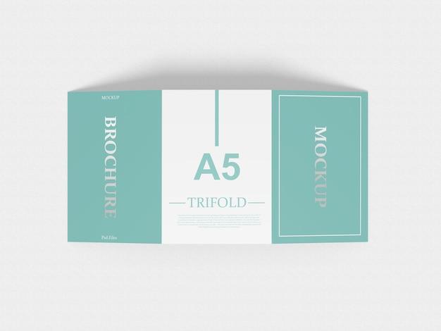 A5 trifold mockup