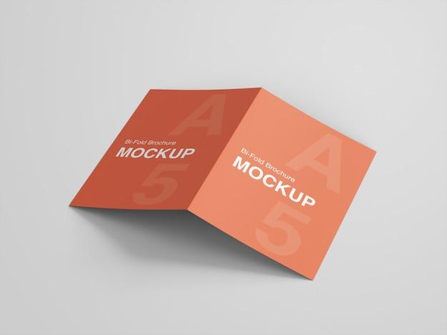 A5 tweevoudig brochure mockup ontwerp