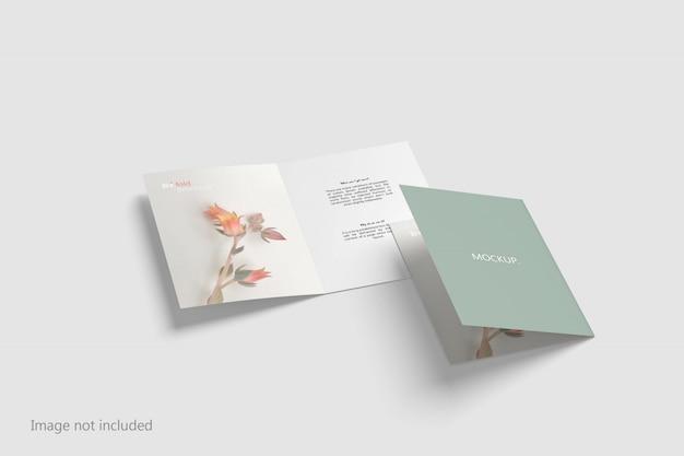 A5 tweevoudig brochure mockup