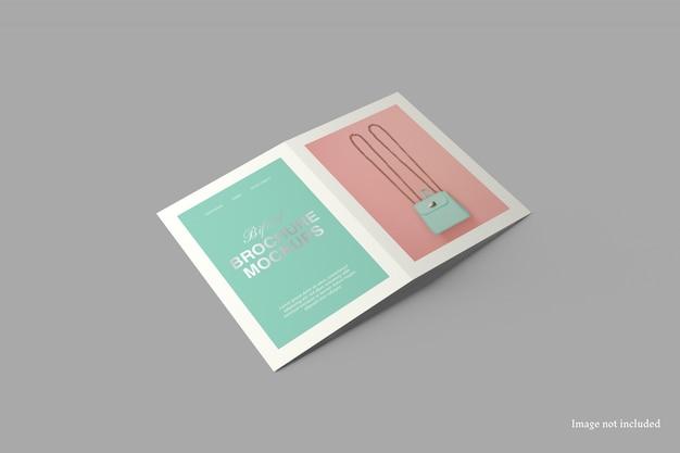 A5 tweevoudige brochure mockup