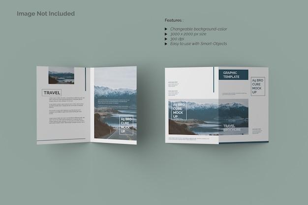 A5 tweevoudige brochuremockup