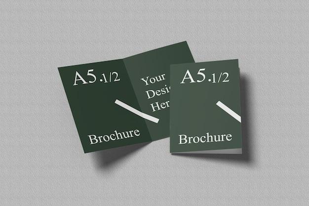 A6 a5 tweevoudig mockup