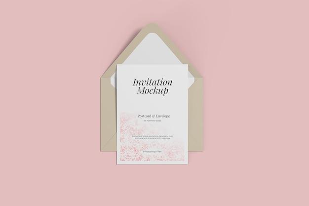 A6 briefkaart- en envelopmodellen