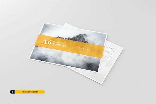 A6 briefkaart / flyer mockup