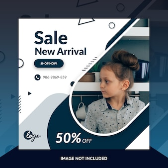 Aanbieding verkoop web sociale media banner sjabloon