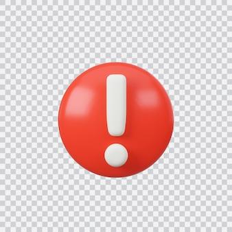 Aandacht teken knop geïsoleerd