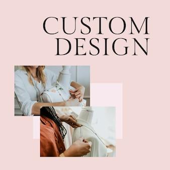 Aangepast ontwerp postsjabloon psd voor mode