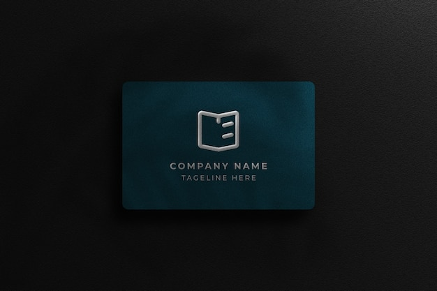 Aanpasbaar blauw donker visitekaartje met donker ontwerp als achtergrond