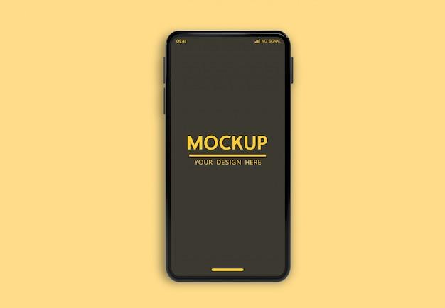 Aanpasbaar smartphonemodel om het psd-sjabloonbestand weer te geven