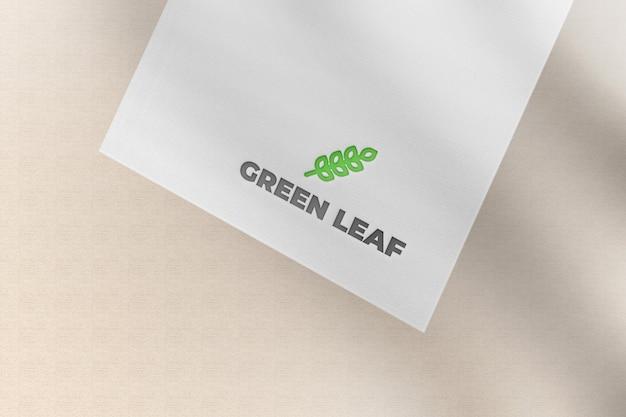Aanpasbaar wit papieren kaartmodel
