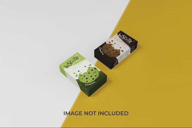 Aanpasbare doos verpakking mockup ontwerpsjabloon