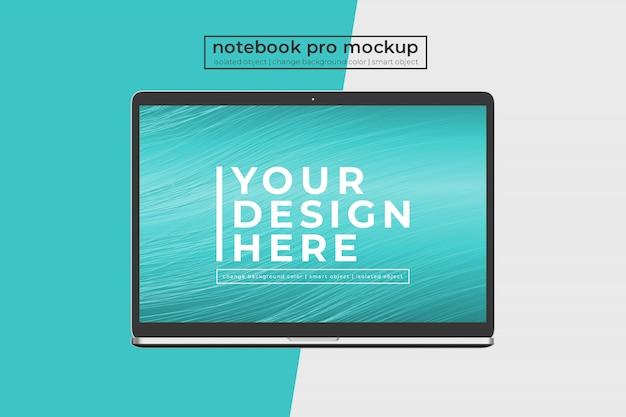 Aanpasbare easy 15 inch notebook pro voor website, ui en apps mockup