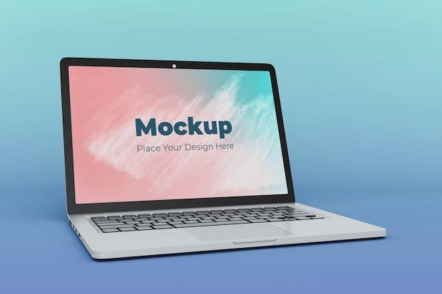 Aanpasbare laptop scherm mockup ontwerpsjabloon
