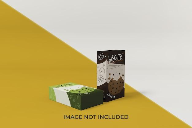 Aanpasbare mockup-ontwerpsjabloon voor voedselverpakkingen