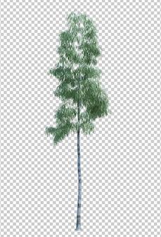 Aardobjecten de boom isoleerde witte achtergrond Premium Psd