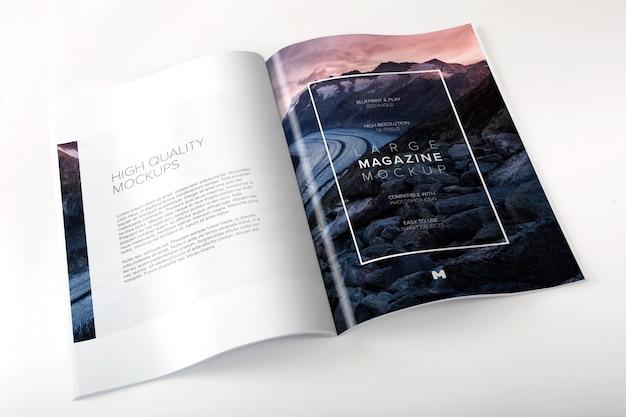 Abrir maqueta de revista grande