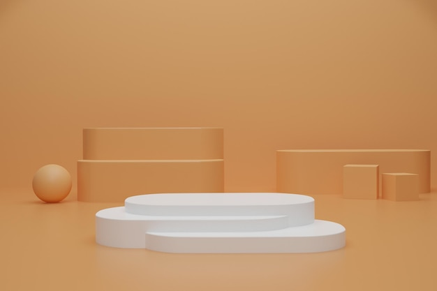 Abstract 3d render podium voor productweergave product