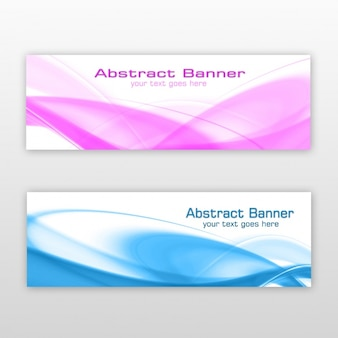 Abstract banners ontwerp