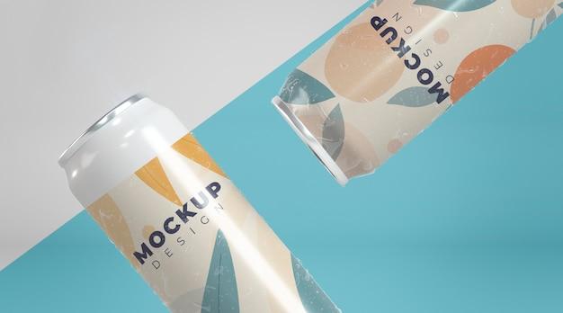 Abstract blik verpakking concept mock-up