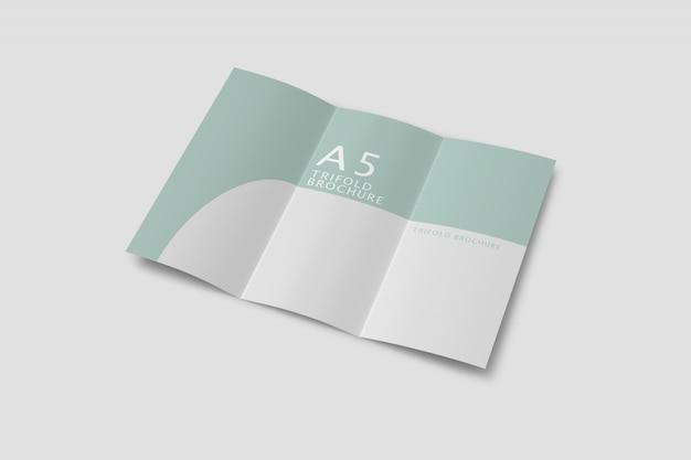 Abstract driebladige brochure mockup gratis psd