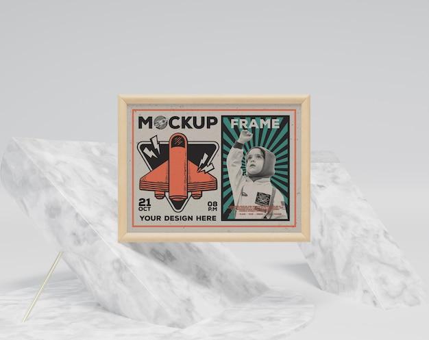 Abstract frame en decoratieve items mockup