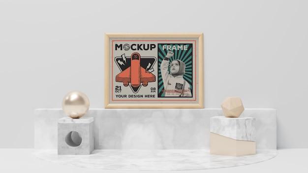 Abstract frame en elegante items mockup