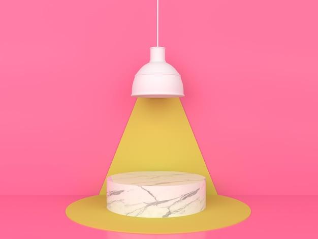 Abstract geometrische vorm pastelkleur minimaal modern stijlconcept
