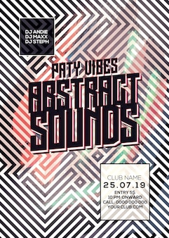 Abstract sounds dj flyer