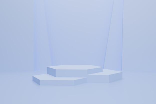 Abstracte 3d-podiumscène Premium Psd