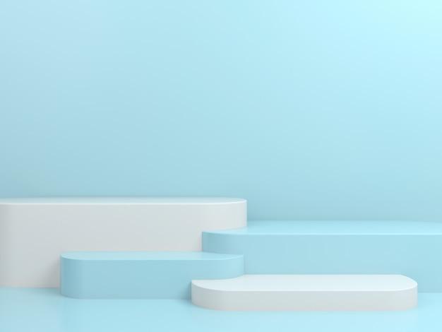 Abstracte geometrische vorm pastel kleur minimale podium podium display mockup