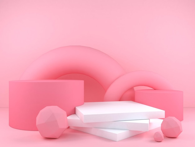 Abstracte geometrische vorm pastel kleur sjabloon minimale moderne stijl concept