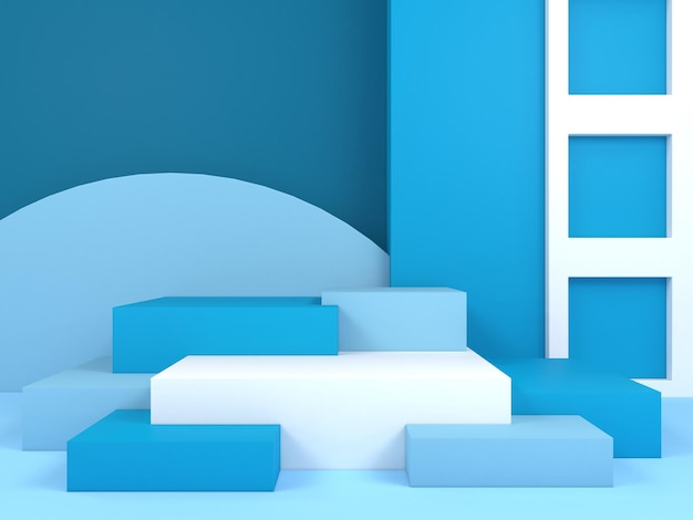 Abstracte geometrische vorm pastel kleur sjabloon minimale moderne stijl muur display stand podium podium