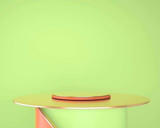Abstracte geometrische vormen van productvertoning met minimale en moderne concepten 3d-rendering